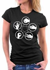 The Big Bang Theory Papier Stein Schere Echse Spock woman T-shirt