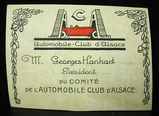 Automobile Club D'Alsace President Georges Hanhart Project Drawing Map Business