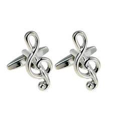 Treble Clef Music Notes Cufflinks X2PSN178