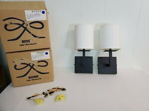 Pair of New Global Lighting Bover 22904 LUA 1 Wall Sconce Lamp  Made in Spain