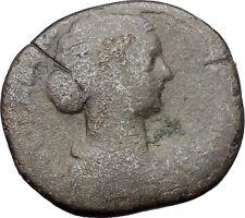 Faustina II wife of Marcus Aurelius Sestertius  Ancient Rare Roman Coin i48039