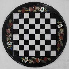 """18"""" Marble Chess Table Top Pietra Dura Handmade Work Home Decor & Garden"""