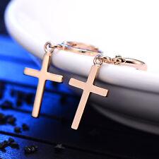 Cross dangle cute drop hoop earrings gold filled womens statement earings lot