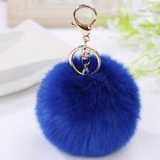 Pom Pom Rabbit Fur Ball Car Key Chain Ring Keyring Women's Bag Accessories Decor