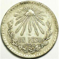 1924 Mexico Peso Silver KM#455 #11773