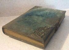 Antique Victorian 1800's Blue Velvet  Photo Picture Album 14 CABINET PHOTOGRAPHS