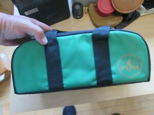 excellent sportfish fly fishing reel spool padded carry case 6 section