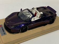 1/18 Ferrari 458 Liberty Walk LB Performance in Gloss Purple  Alcantara BBR  MR