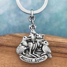 Aussie Bunch Souvenir Pewter Keyring Keychain Australiana Gift, Australian Made
