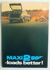 AUSTIN MAXI Car Sales Brochure 1980 #3461 MAXI 2L MAXI 2HL MAXI 2HLS