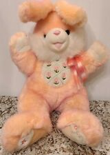 "Dan Dee HOPPY HOPSTER Large 22"" Easter Bunny Rabbit Plush Peach & White."