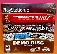 Brand New Sealed DEMO DISC for PS2 Playstation 2 Rare - SSX 007 Speed Mot Wanted