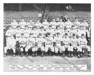 1951 PHILADELPHIA PHILLIES 8X10 TEAM PHOTO ASHBURN ROBERTS