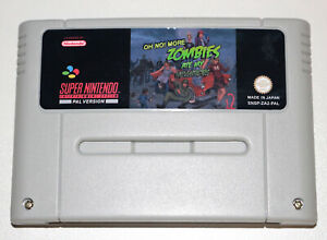 *PAL Version* Oh No More Zombies Ate My Neighbors Game For Super Nintendo SNES