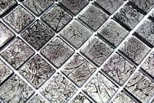 Mosaïque translucide crystal structure noir cuisine mur 63-CM-4BL12_b | 1 plaque