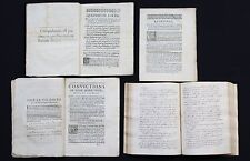 "1646 Murder Trial Archive Famous ""Giroux Affair"" Manuscript Book & Legal Factum"