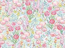 Beatrix Potter Fabric Benjamin Bunny Peter Rabbit FLOWER Garden BLENDER White