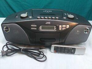 Vintage JVC System Model # RC-EZ32S BoomBox CD, Cassette, AM/FM W/ Remote