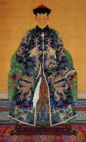 """oil painting on canvas""""Portrait of Lirongbao's Wife, Qing Dynasty """"@14435"""