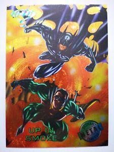 DC Comics Fleer 1995 B22 carte card Batman Metal Forever #73 Up in Smoke
