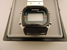 Vintage NOS Helbros  Quartz Solid State  LED Stainless Steel Men's Watch X511WY