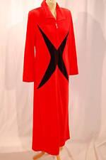 GATTINA Hausmantel lang rot/schwarz 38 Bademantel Nicki 90161