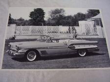 Ref. #69208 Indy Pace Car Factory Photo 1958 Pontiac Bonneville Convertible