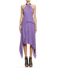 Asymmetrical Hem Solid 100% Silk Dresses for Women