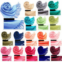 EE_ JN_ Women Soft Scarf Pashmina Shawl Wrap Long Large Stole Neck Warm Beamy