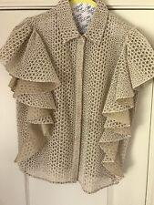 Giambattista Valli Blouse Top Ivory Blush Short Sleeve