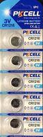 CR1216 PKCELL Lithium Watch Battery ECR1216 DL1216 3V (5 Battery)USA Seller
