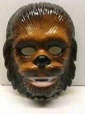 Vintage 1994 Chewbacca Halloween Mask Lucas Films wookie Star Wars Rubies Nos