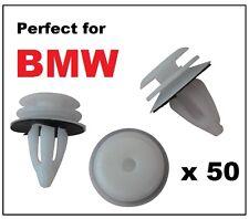 50 x bmw plastique avant et arrière porte carte panneau garniture/fascia interior trim clips