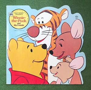 Winnie the Pooh and His Friends Golden Book Shape Book Walt Disney AA Milne 1977
