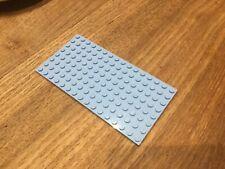Lego part 87580 lumière gris bleuâtre modifié plaque avec 1 boucles au centre x 6