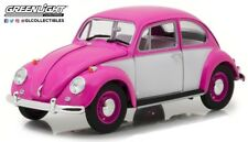 Greenlight 13512 1967 Volkswagen Beetle Right Hand Drive Pink & White 1:18 Scale