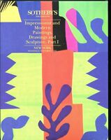 Sothebys Auction Catalog Nov 3 1993 Impressionist Modern Paintings Drawings