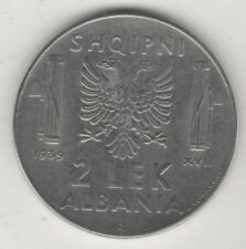 ALBANIA ITALIANA 2 LEK 1939 ANTIMAGNETICO #MI177