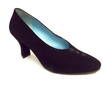THIERRY RABOTIN Size 6 Black Suede Heels Pumps Shoes 36