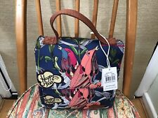 More details for sakroots river peace artist circle insulated flap lunch bag with handle