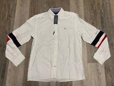 Tommy Hilfiger Men's Medium Shirt Long Sleeve Button Down Custom Fit Yacht Club