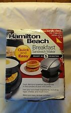 Hamilton Beach Breakfast Sandwich Maker with Timer 25478, Silver