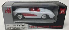 WELLY 1957 CHEVROLET CORVETTE WHITE 1:60 SCALE!  FREE SHIPPING!
