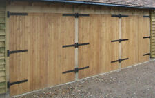 SIDE HUNG WOODEN GARAGE DOORS (Timber)  8'W  X 7'H
