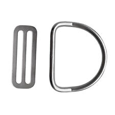 """New listing 316 Stainless Steel Scuba Diving Dive 2"""" 50mm Weight Belt Keeper with D Ring"""