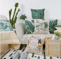 Linen Cotton Fashion Throw Pillow Case Cushion Cover Home Sofa Decor 18''