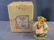 Enesco Cherished Teddies #302570 Kelsie BE THE APPLE OF MY EYE Figurine MIB 004