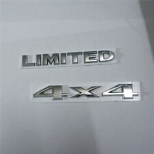 Silver 4x4 + LIMITED Chrome Emblem Metal Sticker Logo Decal Badge Separated suv