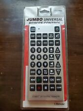 JUMBO Universal Remote Control • CABLE TV VCR DVD • Giant Novelty Remote Huge