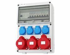 Wandverteiler FI 2x16A 1x32A 4x230V Stromverteiler Baustromverteiler Komplett V2